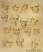 Face Sketches by MorganCrone