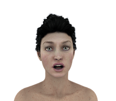 Facial Expressions #6 - Free shock n surprise lady by madetobeunique