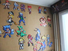 Perler Beads Wall February 2015 part 3 by Cimenord