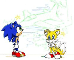 Sonic and Tails by S-concept