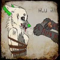 Hold still. by CremexButter