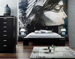 Indian Wall Mural by PIXERSIZE