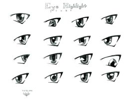 Eye highlight study by Scilentor