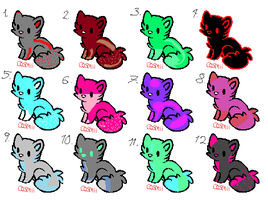 adoptables open by Music-wolf-adopts90