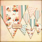 Printable bunting SUMMER FLOWERS digital graphic d by miabumbag