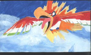 Ho-oh - SCANNED by PokemonTrainerLisa