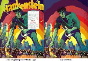 Frankenstein - The lost poster by Salvini