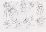 Sketch out! FNAF by limegreenleaf