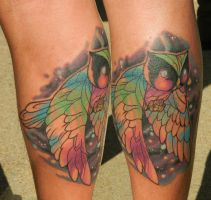 Space Traveling Watercolor Owl by Sirius-Tattoo