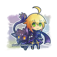 Chibi Emil and Tenebrae by PhuiJL