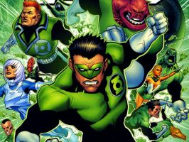 The Green Lantern corps by flaminphoenixrlzusll