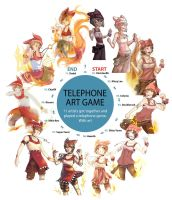 Telephone art game by Charln