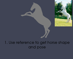 Greyscale Horse Base Painting GIF and Tutorial by Ruanly