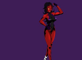 Red She Hulk by artdre3000