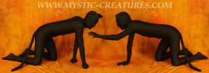 Spandex zentai cat 1-of-2 by Mystic-Creatures