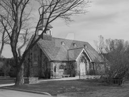 Little Stone Church BW by Qphacs