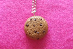 Chocolate Chip Cookie Necklace by Rotting-Soul