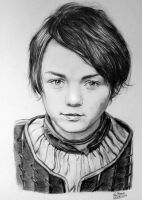 Arya Stark Drawing - Game of Thrones Fan Art by LethalChris