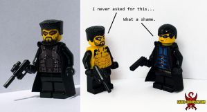 LEGO Deus Ex: JC Denton and Adam Jensen by Saber-Scorpion