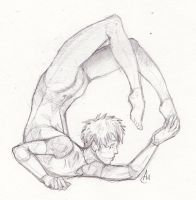 Contortionist Man by isolationary