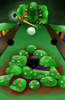 Lord English Plays Billiards by dragonfreako