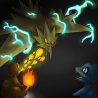 Zapdos Vs My Exploration Team by SophieJaguarkia