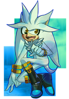 Silver the Hedgehog by LegendWaker