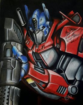 Optimus Prime  by barnowlart