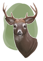 Uncle Buck the Deer by Kiboku