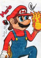 Fired Mario by ShadowMario93