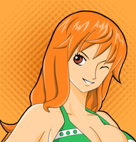 me colouring xXNami-sanXx's lineart! by cromarlimo