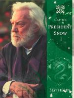 President Snow is a Slytherin by GlitterGuns