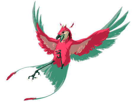 Colourful Birb by PrecosiousChild