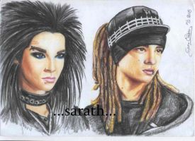 Bill e Tom Kaulitz TOKIO HOTEL by sarath90