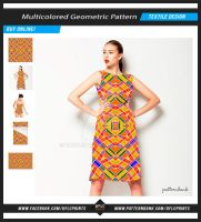 Multicolored Geometric Seamless Pattern by danfleites
