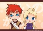 Chibi Gaara and Ino by nekoshiei