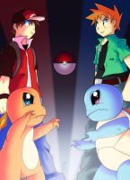 RED/BLUE - TRAINER by Dante91