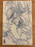 Hawkman Sketch Card by hyperjack08