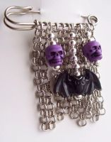 Spooky Kilt Pin by BastsBoutique