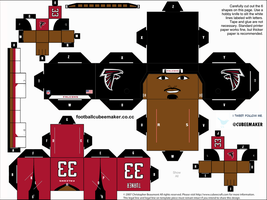 Michael Turner Falcons Cubee by etchings13