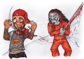 Bizkit vs. Joey Jordison by Sandersk
