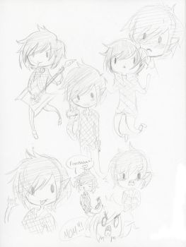 Marshall Lee Doodle Dump by princess-hylian