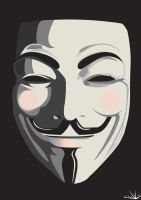 Anonymous Mask - Guy Fawkes by dvL-den