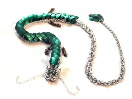 Spirited Away Haku Chainmaille Dragon by SerenFey