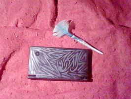 Tribal Symbol-DSI and Feather Pin by AZURA-FANG