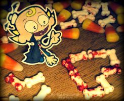 Flapjack Halloween Paperchild by Sashuka68