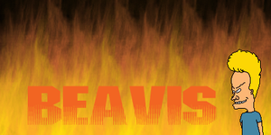 Beavis Banner by DarthEd