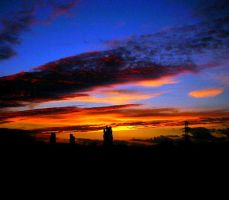 Rainbow-Colored Sunset by h23b