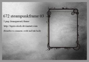 672 Steampunk Frame 03 by Tigers-stock