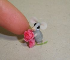 Flowers mouse: peony by Fairiesworkshop
